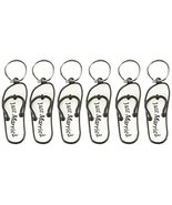 "Mini Flip Flop ""Just Married"" Key Chains Pkg of 6 - $13.53"
