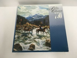 RoseArt The Puzzle Collection 750 Piece High Mountain Crossing #97325 Br... - $12.19