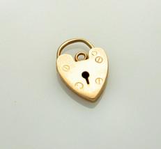 9ct Gold Padlock for Bracelet etc Full Birmingham Hallmark 1975 - $72.34