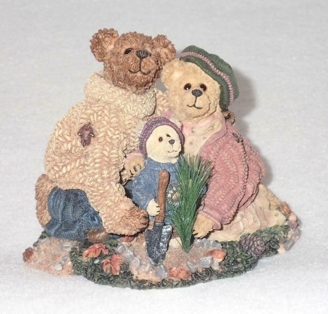 Boyd Bearstone Resin Bears Stephanie John & George Figurine #228348 1E