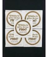 "D'Addario PB047 Phosphor Bronze .047"" Acoustic Guitar Strings ( 5 Pack Bundle ) - $19.99"