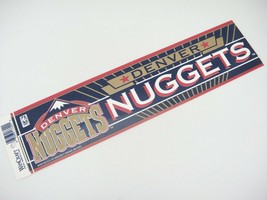 Denver Nuggets Basketball NBA Bumper Sticker by WinCraft Vintage Unused - $11.87