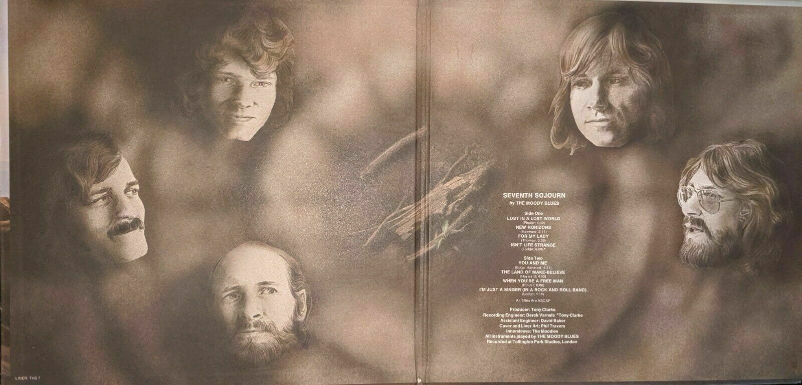 Moody Blues, Seventh Sojourn Vinyl LP, released 1972, London Records
