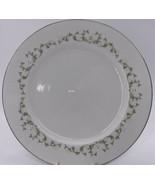 Elegance by Sheffield Japan 502 T Dinner Plate White Flowers Green Flora... - $9.49