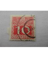 Old Austria 10 Cent Porto Red Postage Stamp - $10.68