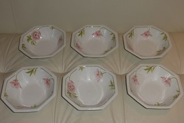 "6 JOHNSON BROTHERS ""SPRING MORNING"" CEREAL BOWLS - $149.00"