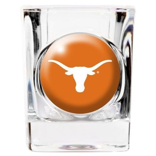TEXAS LONGHORNS 2 OZ. TEAM DOMED LOGO SQUARE SHOT GLASS NCAA
