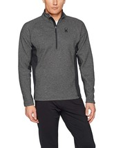 Spyder Men's Outbound Half Zip Mid Weight Stryke Jacket ,Black/Limestone, L - $64.34