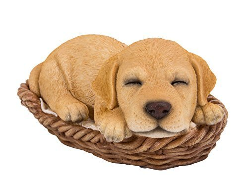 Primary image for Labrador Puppy in Wicker Basket Pet Pals Collectible Dog Figurine 6.5 Inches L