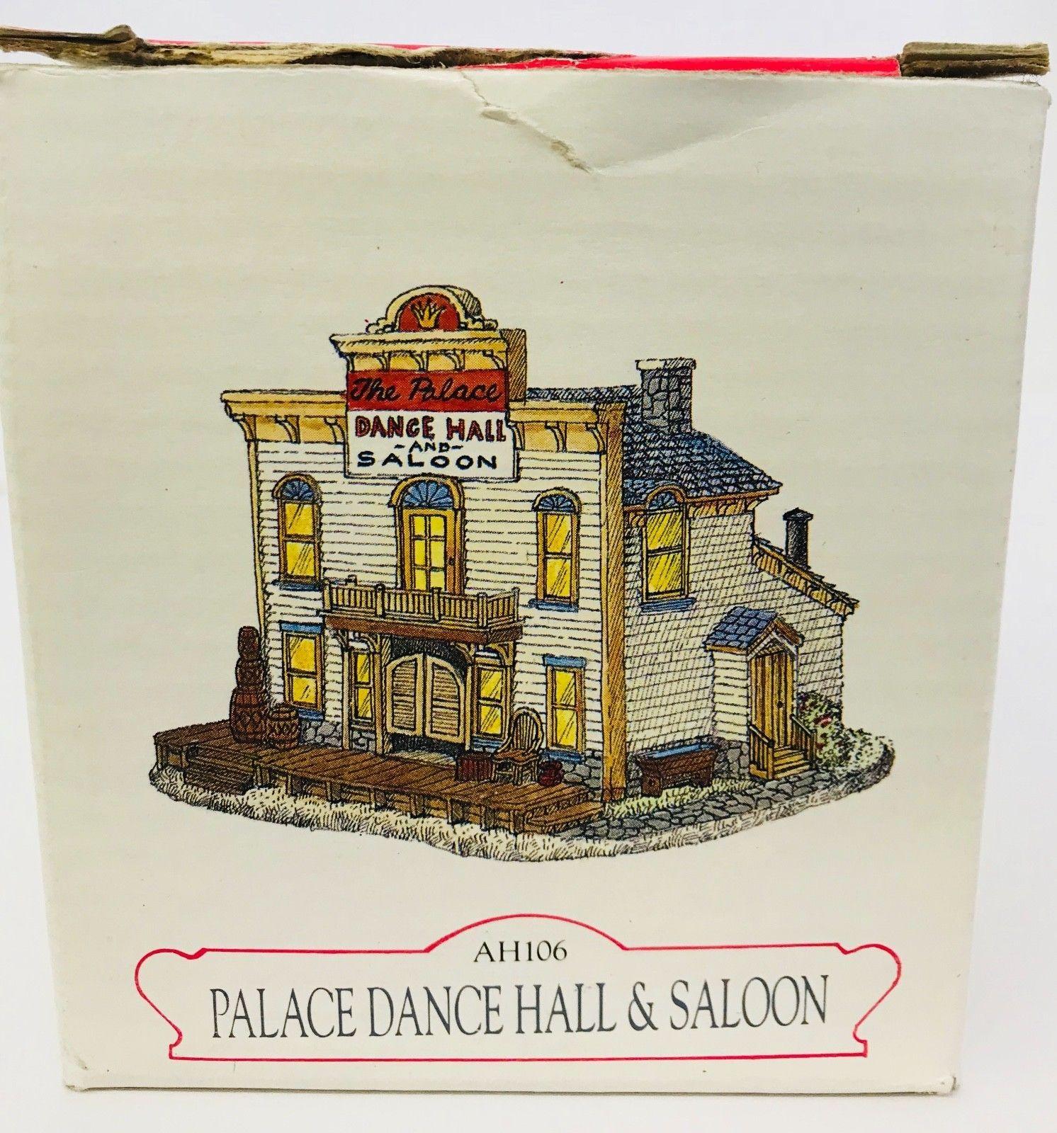 Christmas Village Pieces Lot Of 2 Liberty Falls Palace Dance Hall & Port Jeweler
