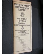 Southern Pacific Los Angeles employee timetable+ Special Instructions 3... - $18.56