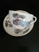 Vintage Royal Worcester Important Person Bird Hunters Tea Cup and plate England - $49.49
