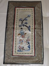 Chinese Rectangular Embroidered Decorative Textile Panel - $149.00