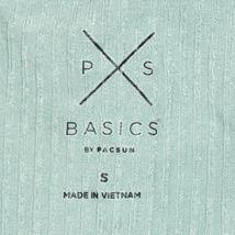 PS Basics Pacsun Women's Seafoam Green Ruffle Ribbed Knit Crop Tank Top Size S image 3