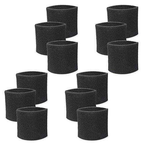 Fette Filter - Foam Sleeve Filters for 5+ Gallons Vacs Compatible with Shop-Vac