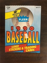 1990 Fleer Baseball Wax Box 36 Unopened Packs 15 Cards 1 Sticker Per Pack - $5.99