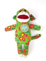 "Save Our Earth Now Sock Monkey Earthrite Fiber Plush Knit 16"" Stuffed An... - $12.19"