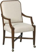 Arm Chair WOODBRIDGE BROOKS Tapering Legs Pierced Back - $1,439.00