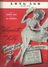 1944  Long Ago and far away Rita Hayworth Antique & Vintage Sheet Music - $7.95