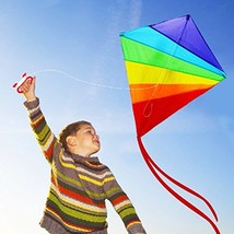 PAOPAO The Great Beginner Kite The Huge Rainbow Kite Brings The Best Out... - $15.02