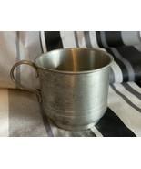 """Vintage Selandia Pewter Cup Thailand 97% Tin 2 1/4"""" Tall Mini Mug - $13.99"""