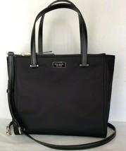 New Kate Spade New York Dawn Medium Satchel Nylon handbag Black - $144.42 CAD