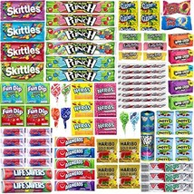 Assorted Candy Bulk Individually Wrapped Candies Assortment - Huge Party Mix of