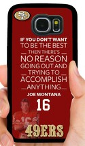 Joe Montana 49ERS Phone Case For Samsung NOTE/ Galaxy S6 S7 Edge S8 S9 S10 Plus - $11.99