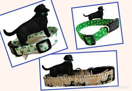 """St Patrick's Day dog collars, 1 inch wide , 3/4"""" inch wide, or 5/8"""" wide... - $13.00"""
