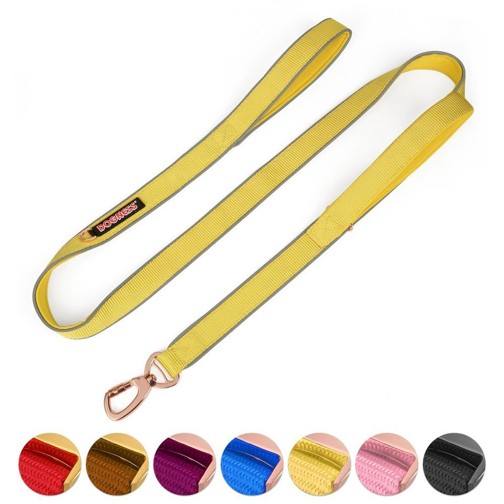 Double Handle Dog Leash Dual Handle Heavy Duty Soft Padded Reflective Nylon Dog  image 3