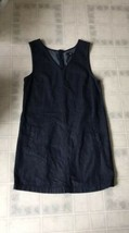 GAP Women Size 8 Denim Sheath Above Knee V-Neck Dress Pockets - $21.25