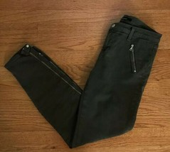 J BRAND 27 Carey Stretchy Mantis Green Skinny Jeans Pants Zip Moto Ankle  - $29.67