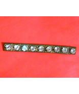 Antique Brass Rhinestone Bar Pin Brooch - $3.80