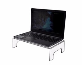 """Clear Acrylic 4""""H x 15""""W Lap-Top Riser With Han... - $37.49"""