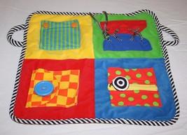 "IQ BABY Small World Toys Preschool PLAY MAT Blanket 17"" Snap Button Zip ... - $18.35"