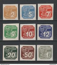 1939 Bohemia Moravia Set of 9 Newspaper Stamps Catalog Number P1-9 MNH
