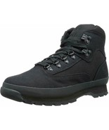 Men's Timberland Euro Hiker Mid Hiking Boot Black Canvas A15RX - $79.99