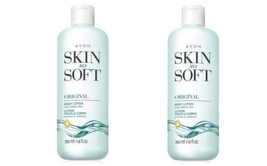 Lot of 2 Avon Skin So Soft Original + Jojoba Body Lotion 11.8 oz. ea. - $17.25