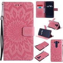 LG V10 Case,LG H900 Case,XYX [Pink Sunflower][Wrist Strap][Kickstand] Em... - $3.95