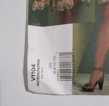 Vogue American Designers Anna Sui V 1104 Dress Pattern Size AA 6-12 Uncut image 4