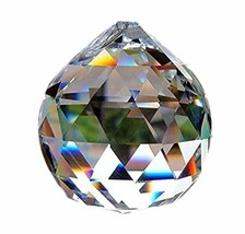 Crystal Sphere Round Prism Faceted Ball Feng shui Decorative 40mm - $8.90