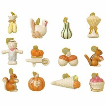 Lenox Autumn Delights Thanksgiving Miniature Tree Ornaments 12 Turkey Ac... - $97.02