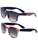 2 Pairs American Patriot Flag Sunglasses 4th of July Bbq Party Favor Cla... - $29.82 CAD