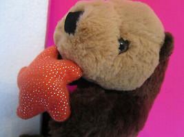 "Unipak Plush Toy BROWN SEA OTTER w/ Starfish dated 2014, 16"" long, fresh... - $5.75"