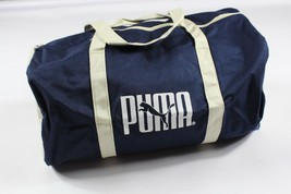 New Vintage 90s Puma Spell Out Canvas Duffel Bag Carry On Travel Bag Nav... - $29.41