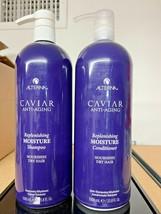 Alterna Caviar Replenishing Moisture Shampoo & Conditioner 33.8oz LITER ... - $89.99