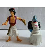 """Disney's Aladdin Action Figures Toy Lot of 2 PVC Plastic Cake Toppers 3""""... - $9.90"""