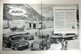 Vintage Print Ad 1956 GMC Trucks Coach Blue Chip Transport Montgomery Dam 2-Page - $11.83