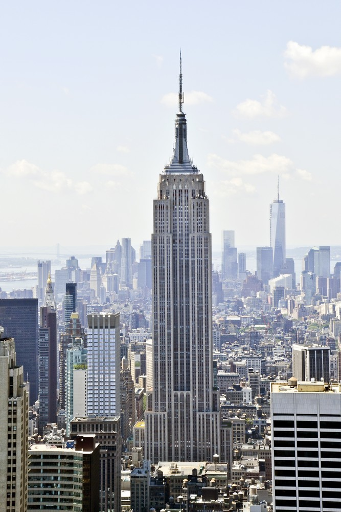New York City Wall Decor Panoramic Canvas Print - Empire State Building