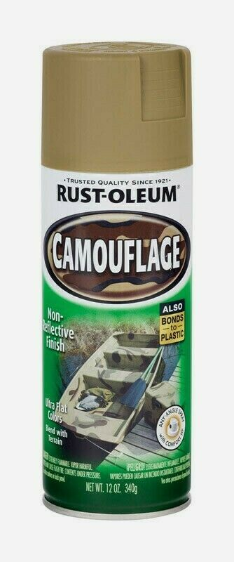 Primary image for Rust-Oleum Specialty CAMOUFLAGE 12 oz. Spray Flat KHAKI Sports Hunting 1917830